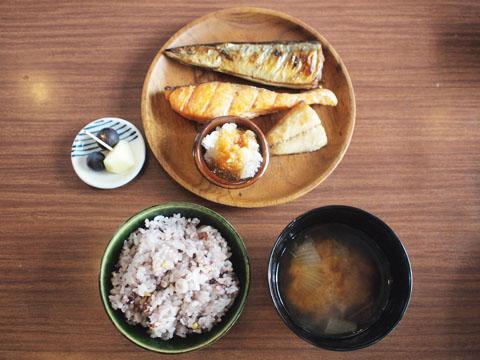 焼き魚三種盛り定食 950円