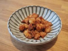 卵焼き器でなんこつの唐揚げが楽チン